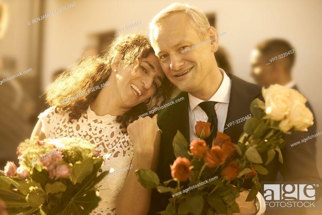 Stock Photo: Upper class wedding. Pöcking, Starnberg, Bavaria, Germany.