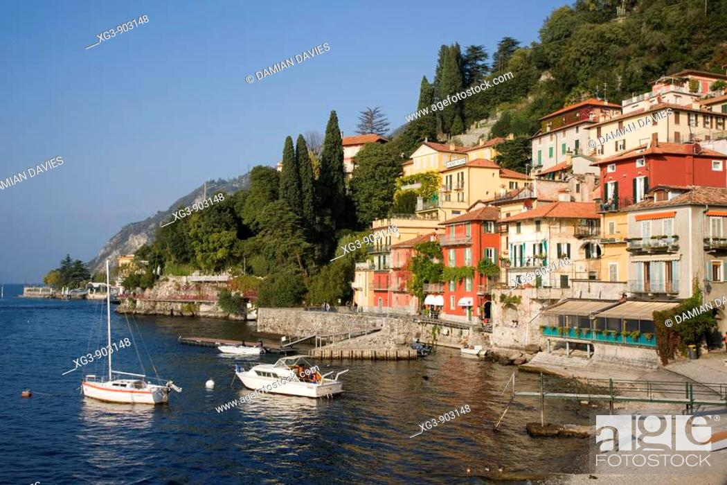Stock Photo: Varenna and harbour, Lake Como, Italy.