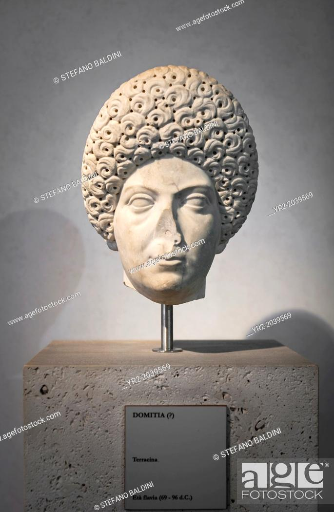 Stock Photo: Portrait of Domitia, about 96 AD, national museum of Rome (museo nazionale romano), Rome, Italy.