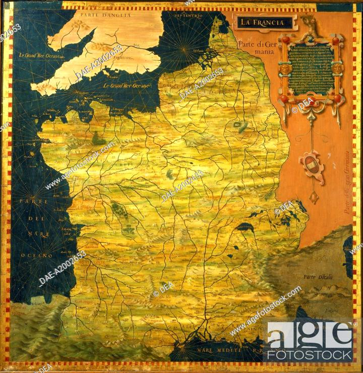 Geographical Map Of France.Italy Tuscany Region Florence Palazzo Vecchio Hall Of The