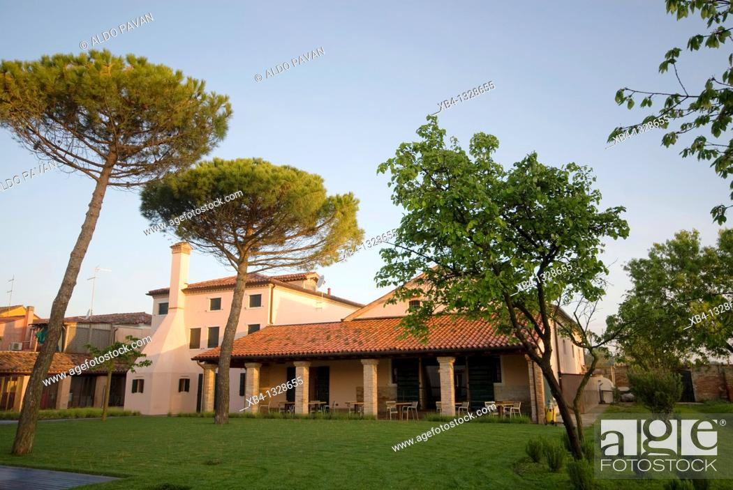 Stock Photo: Italy, Venice, Mazzorbo island, Estate of Scarpa Volo, now Venissa hotel and restaurant.