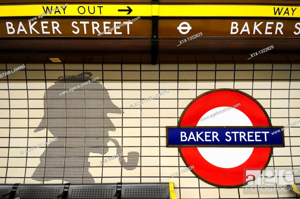 Baker Street Underground Tube Station Symbol With Sherlock Holmes