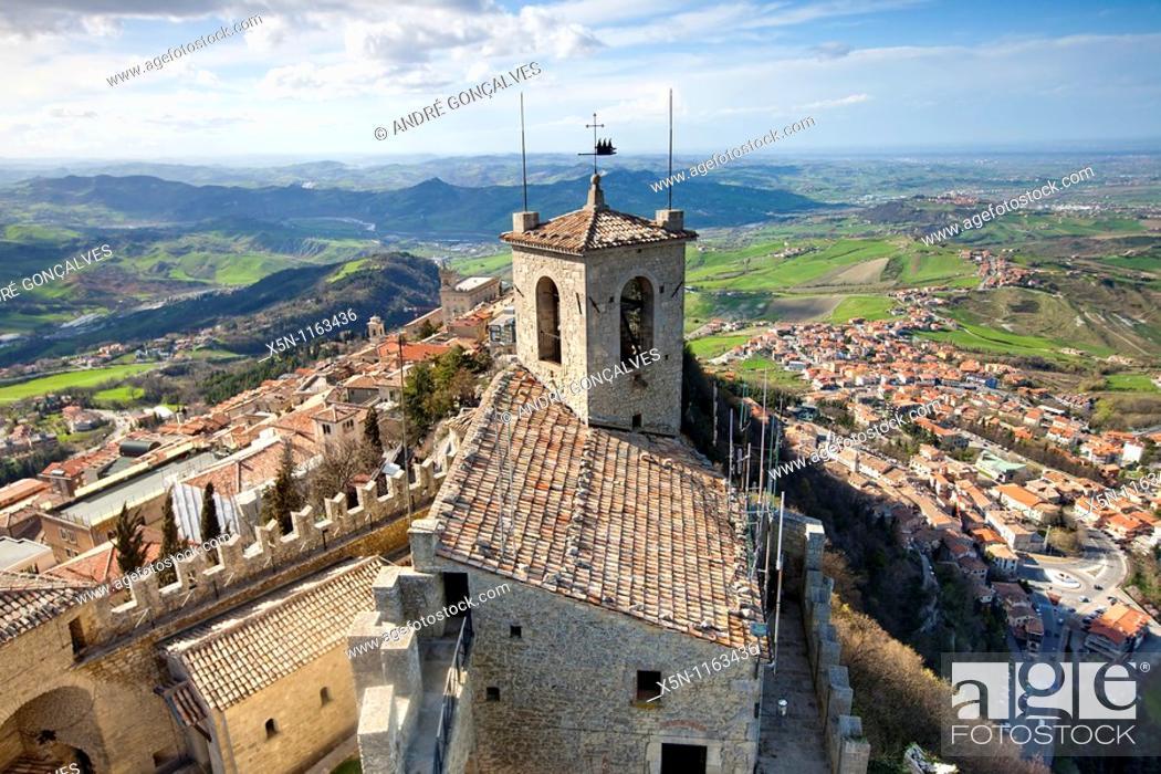 Stock Photo: San Marino Castle.