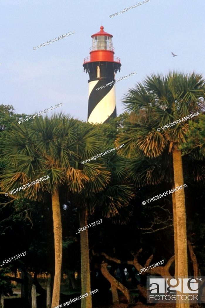 Stock Photo: 'Historic St  Augustine Lighthouse in St  Augustine, FL'.