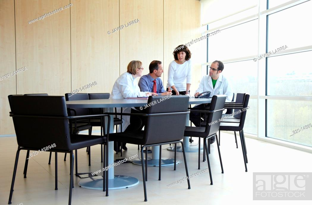 Stock Photo: Meeting room, IkerChem research lab, design and synthesis of new chemical entities with therapeutic applications in oncology.