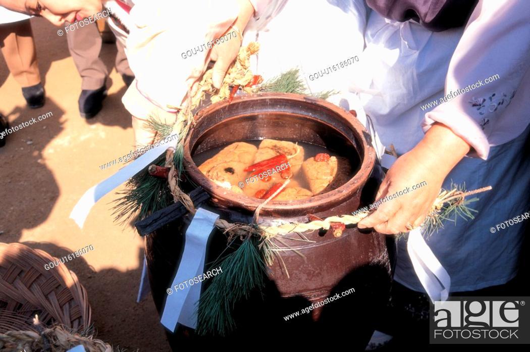 Stock Photo: ferment, 35mm, soybeans, toenjang, tradition, film.