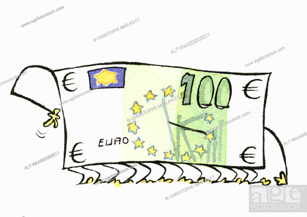 Stock Photo: Euro bill.