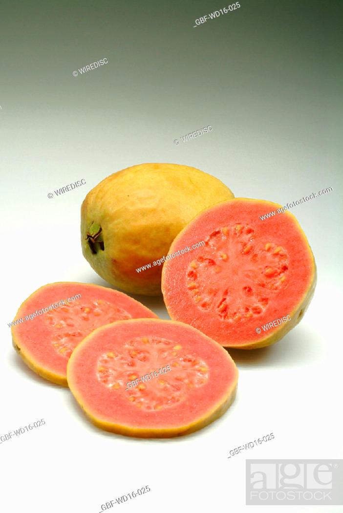 Stock Photo: Food, fruit, guava.