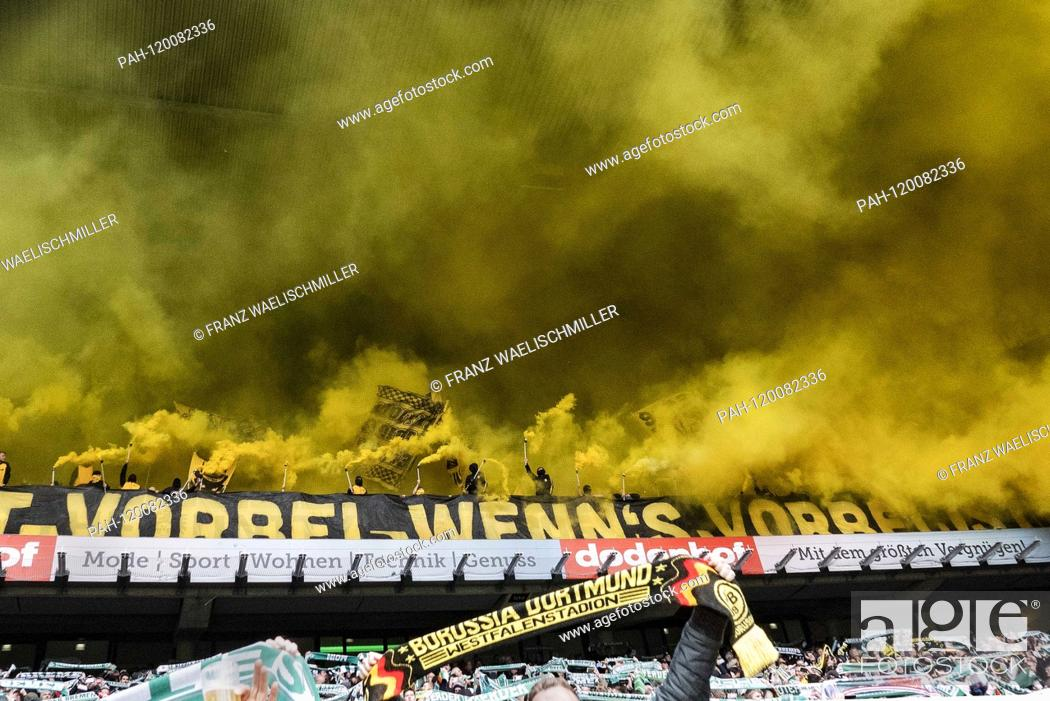First Over When S Over Is Stands On A Banner Fans Of Borussia Dortmund End On The Stock Photo Picture And Rights Managed Image Pic Pah 120082336 Agefotostock