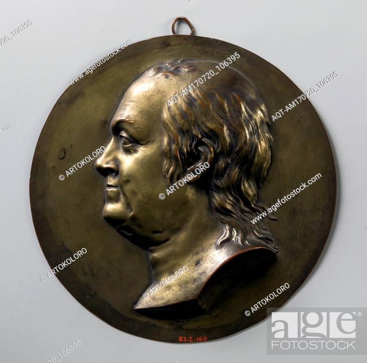 Stock Photo: Medallion, 1776–1800, Probably made in France, Galvonplast (probably galvano-reproduction), Diam. 5 5/8 in. (14.3 cm), Metal, Jean-Baptiste Nini (Italian.