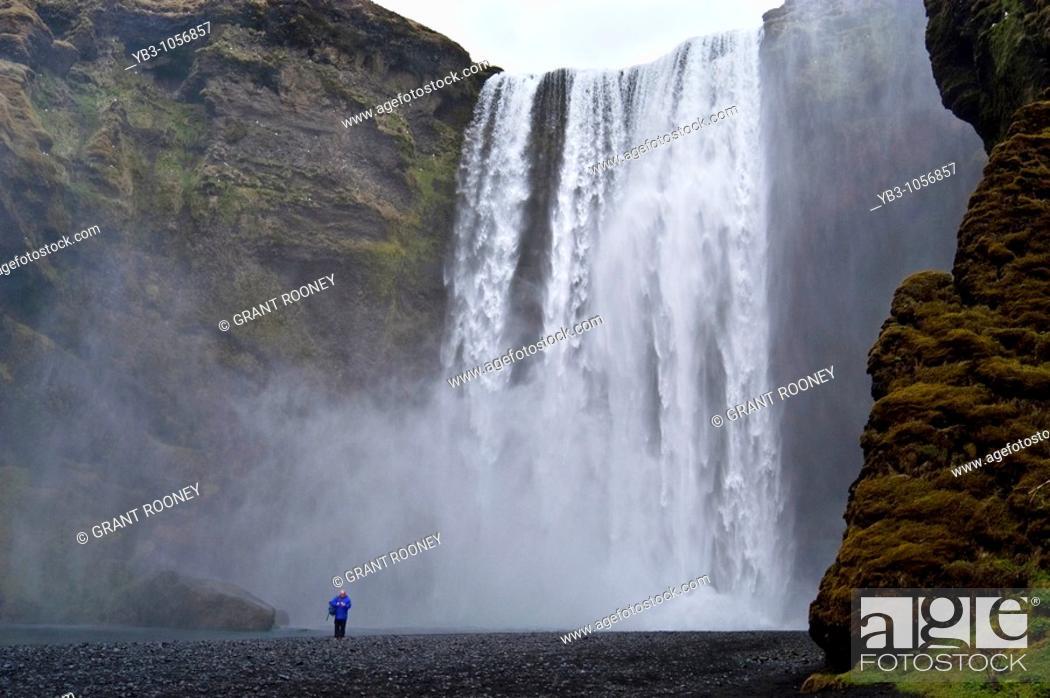 Stock Photo: Skogafoss Waterfall, Iceland.
