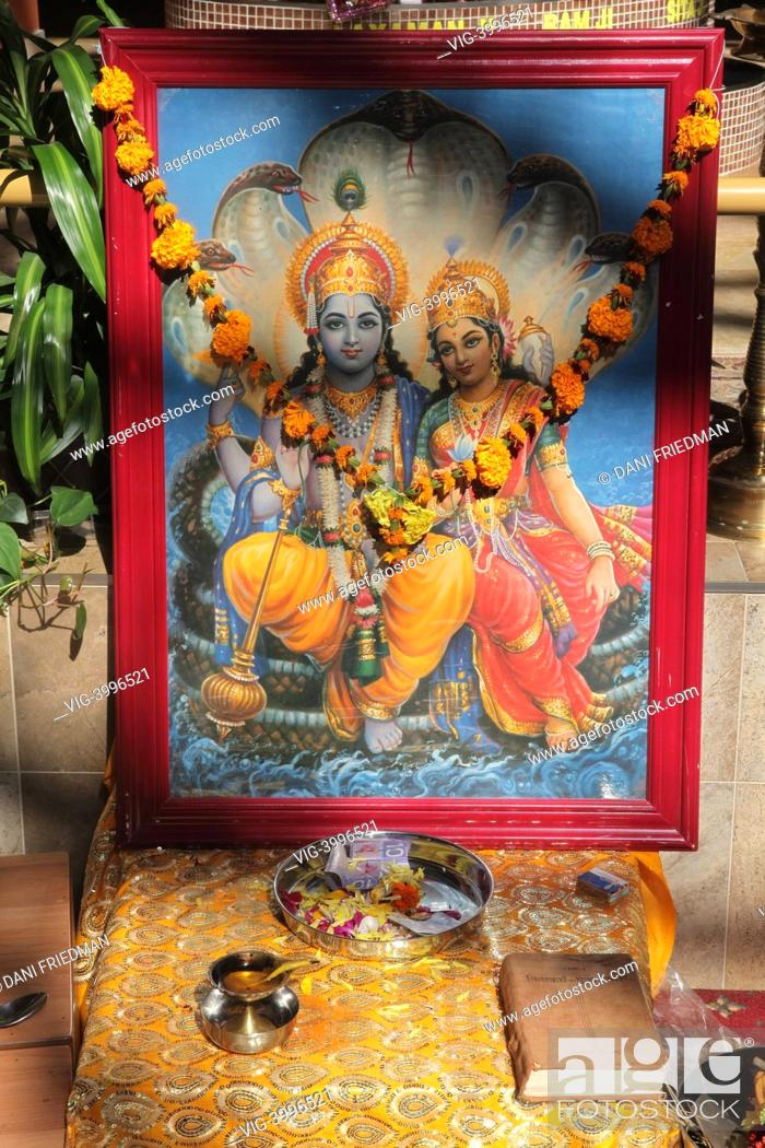 CANADA, MISSISSAUGA, Religious items at a shrine in a Hindu