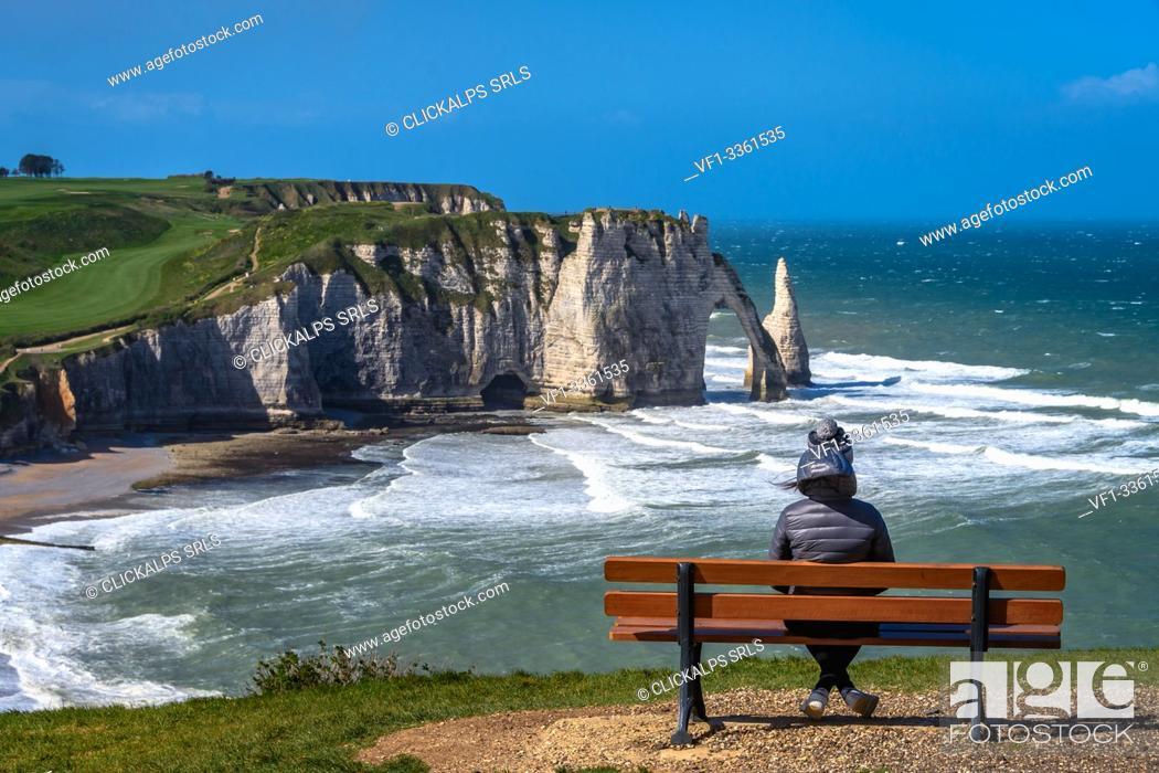 Stock Photo: Etretat, Normandy,France.