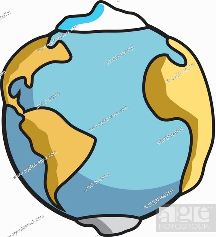 Stock Photo: A graphic representation of the Earth.