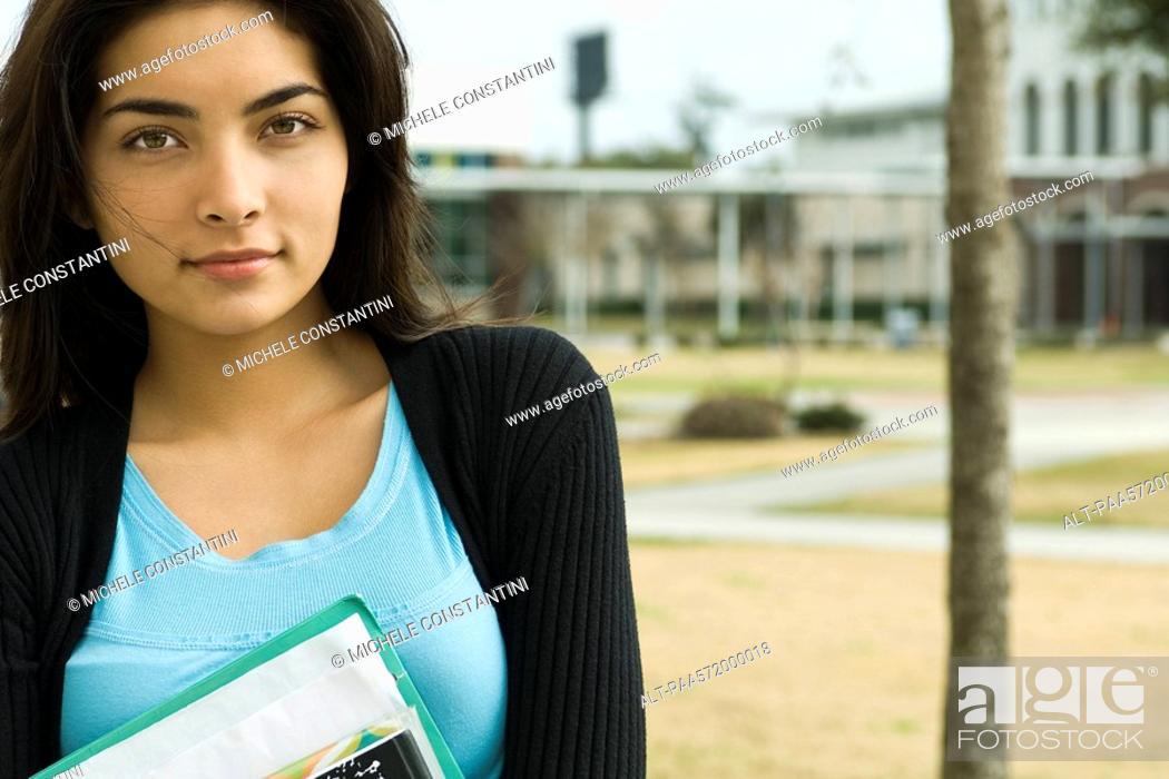 Stock Photo: Female high school student, portrait.