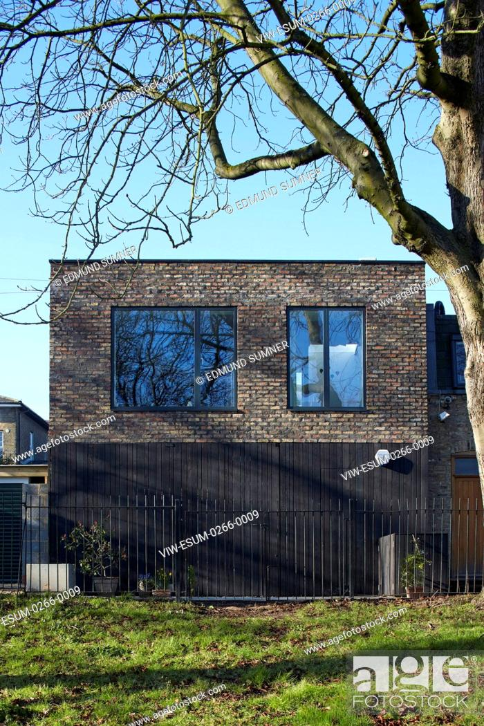The 3 storey house was carefully designed to fit into the