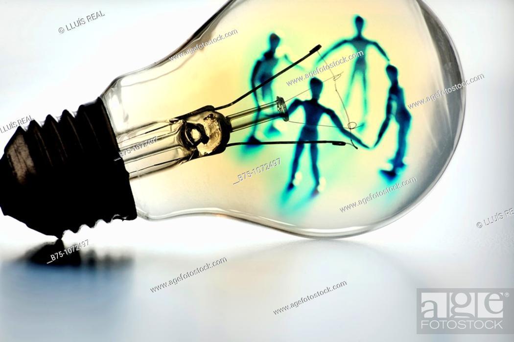 Stock Photo: Light bulb, concept.