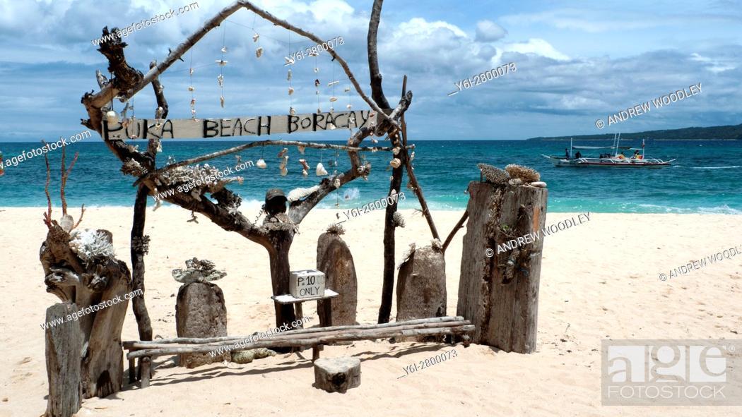 Stock Photo: Puka Beach Boracay island Philippines.