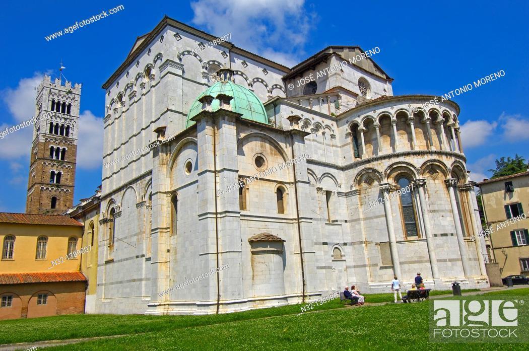 Stock Photo: Lucca, Cathedral, Duomo di San Martino, St Martin Cathedral, Tuscany, Italy.