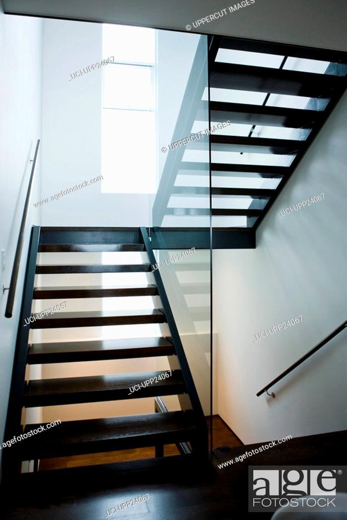 Stock Photo: Modern staircase.
