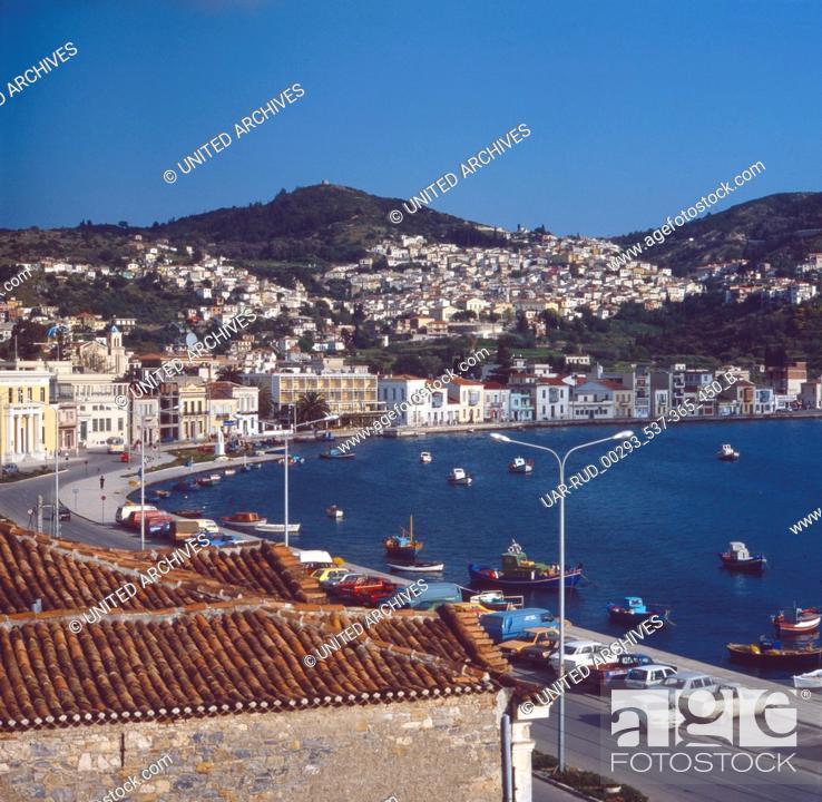 Stock Photo: Eine Reise nach Samos, Griechenland 1980er Jahre. Trip to Samos, Greece 1980s.