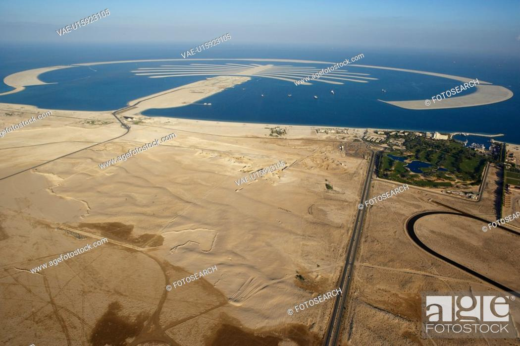 Stock Photo: dubai, aerial, airborne, sky, december, 2006.