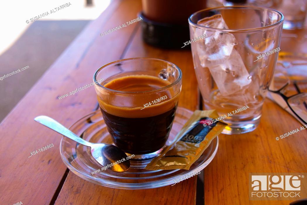 Stock Photo: Coffee with ice.