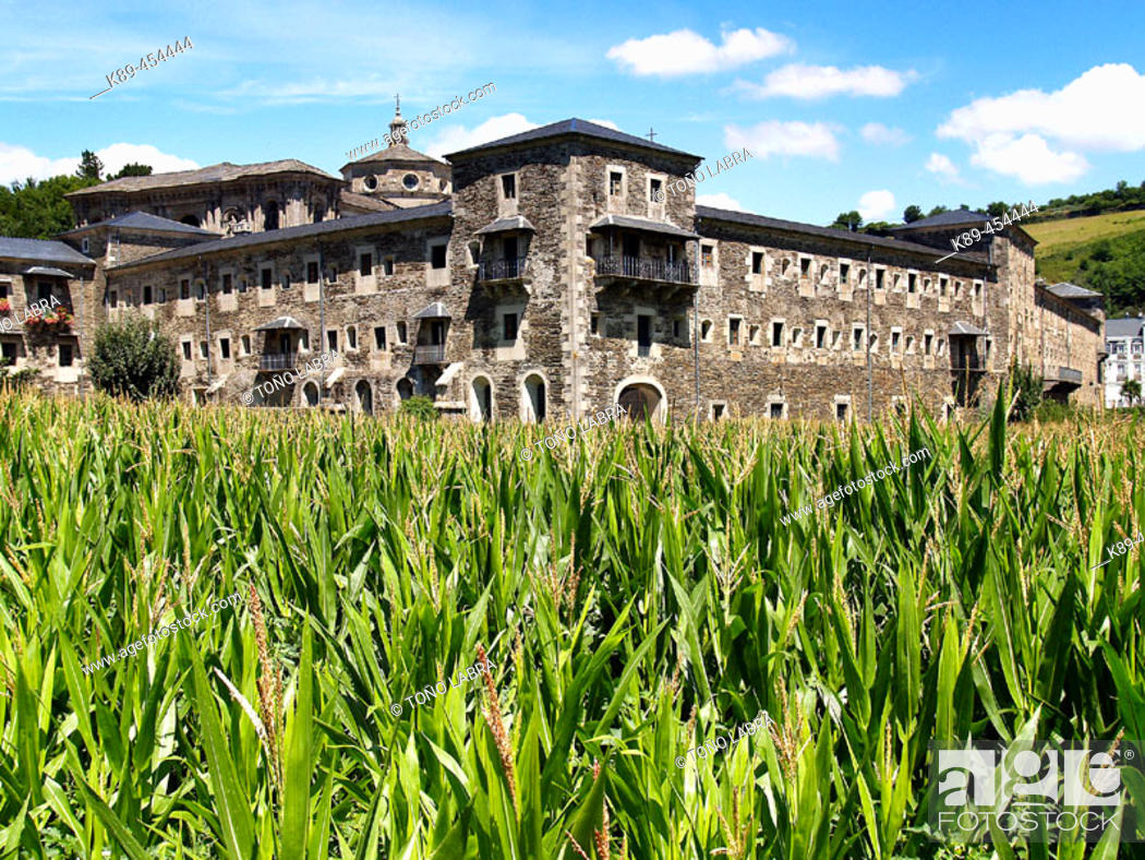 Monastery Of San Julian Samos Lugo Province Galicia Spain Stock Photo Picture And Rights Managed Image Pic K89 454444 Agefotostock