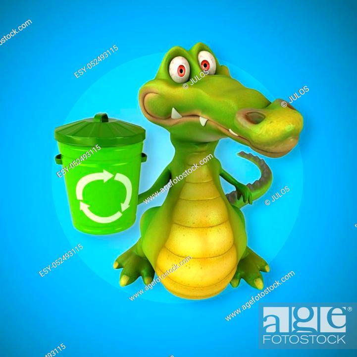 Stock Photo: Fun crocodile.