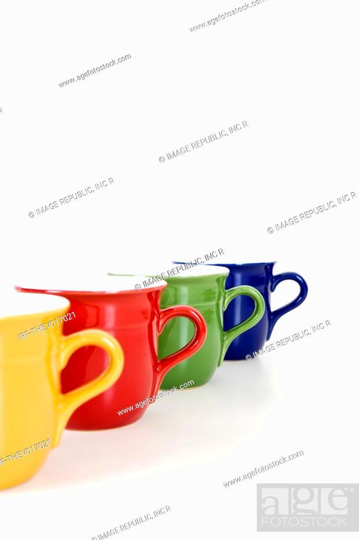 Stock Photo: coloful cups.