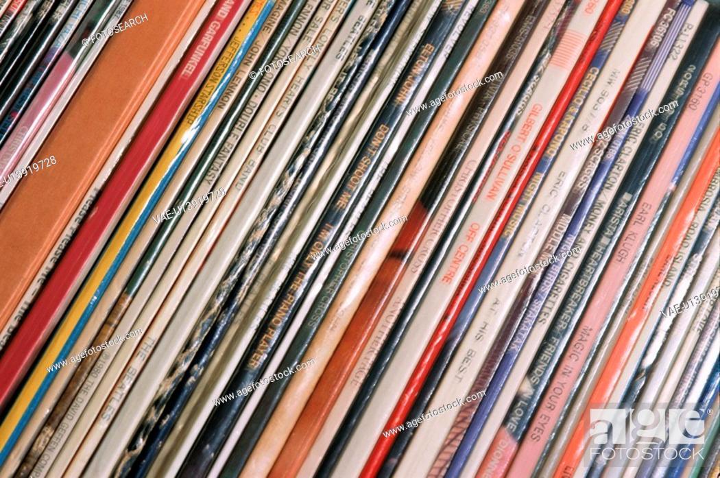 Stock Photo: Records.