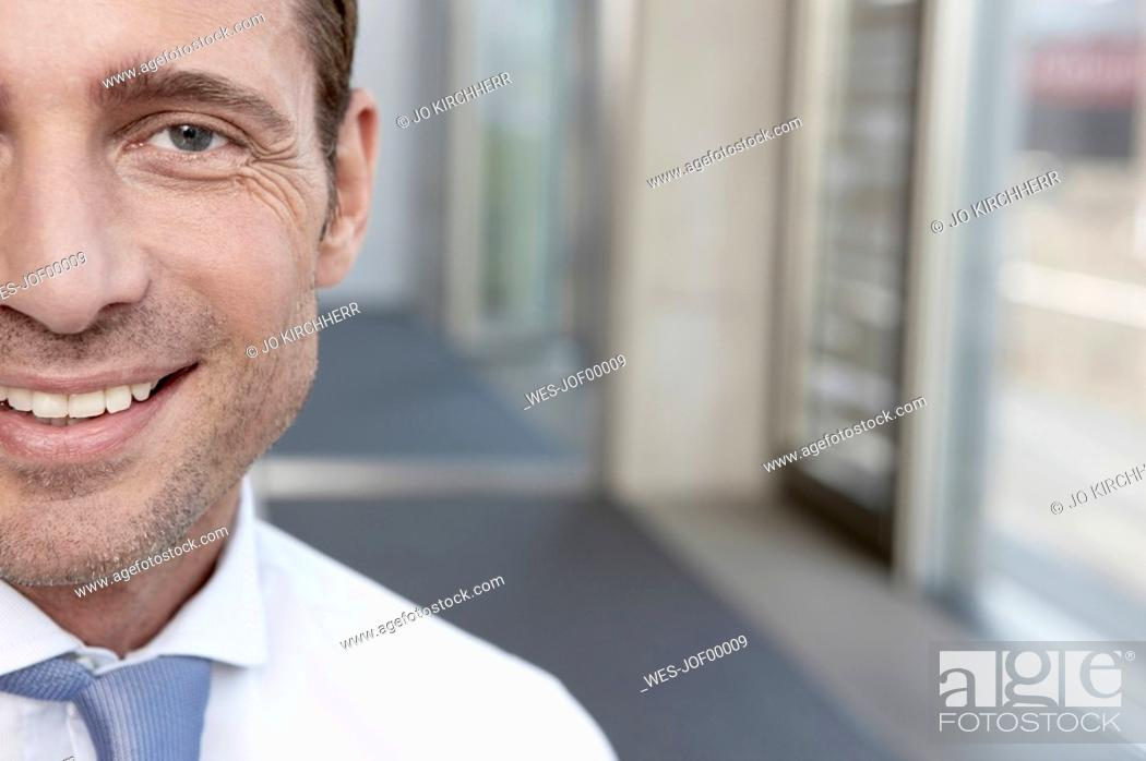 Stock Photo: Germany, Cologne, Portrait of a businessman, close-up.