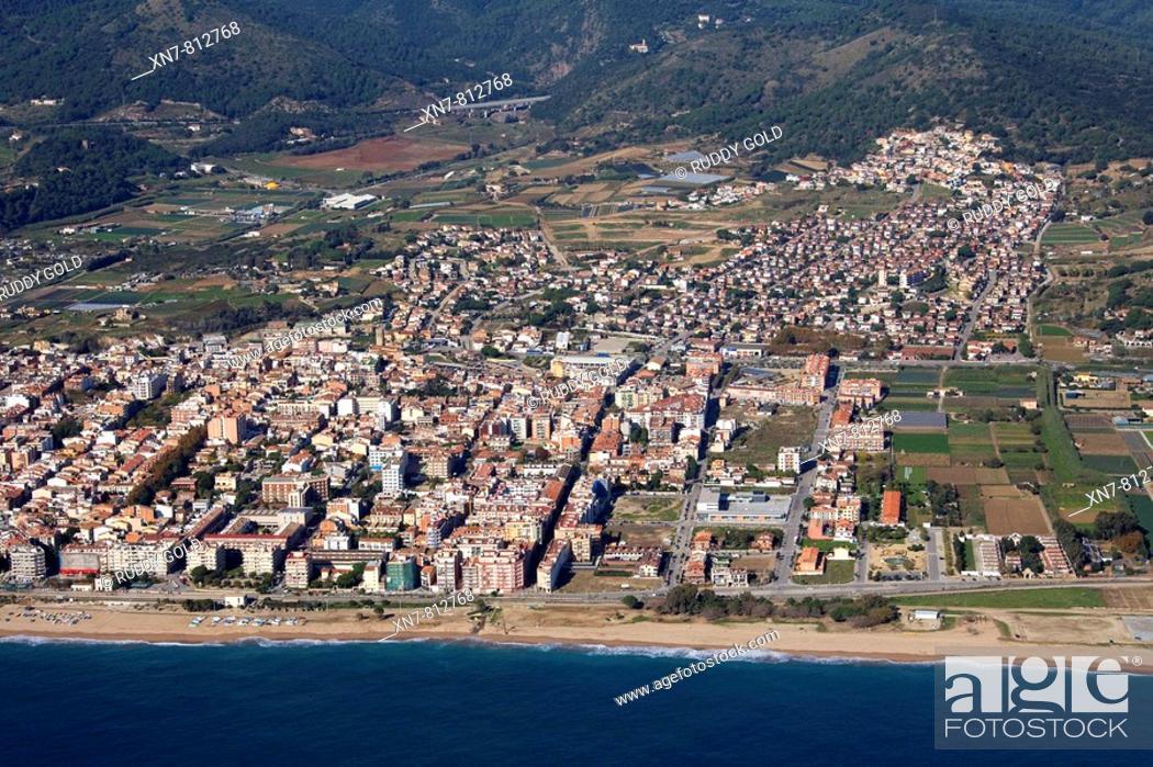 Stock Photo: Spain, Catalonia, Barcelona, El Maresme, Pineda de Mar.