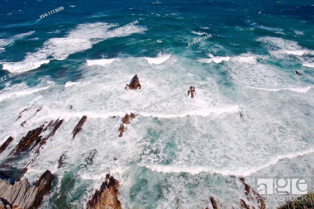 Stock Photo: Busto cliff, Asturias  Spain.