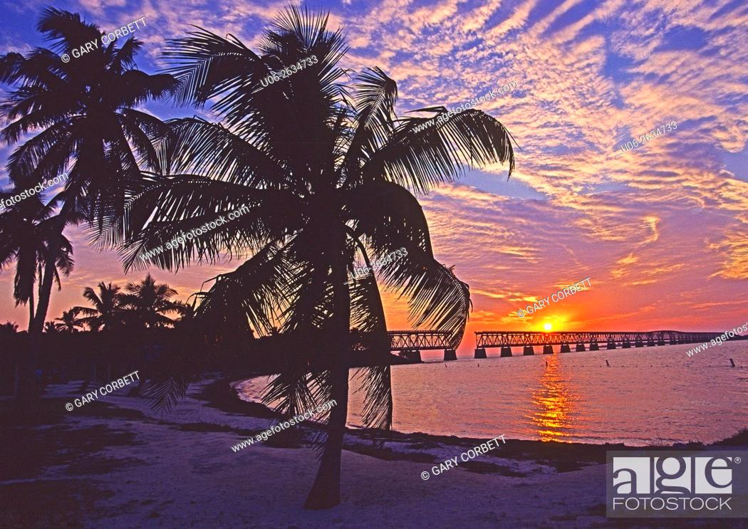 Stock Photo: Bahia honda state park, florida keys.