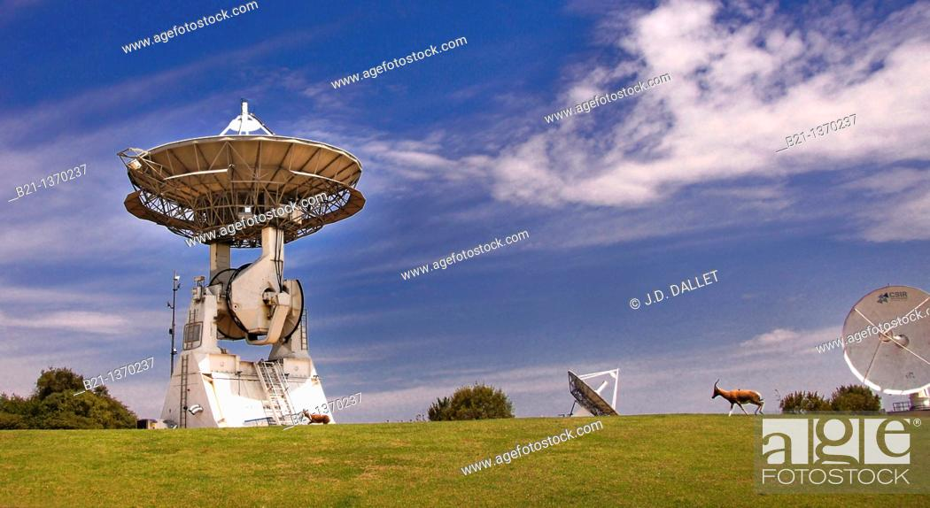 Stock Photo: CSIR Satellite Applications Centre, Hartebeeshoek, South Africa.