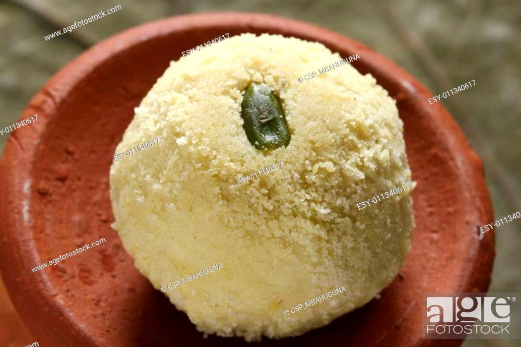 Stock Photo: Kheer kadam is a milk-based sweet from Bengal.