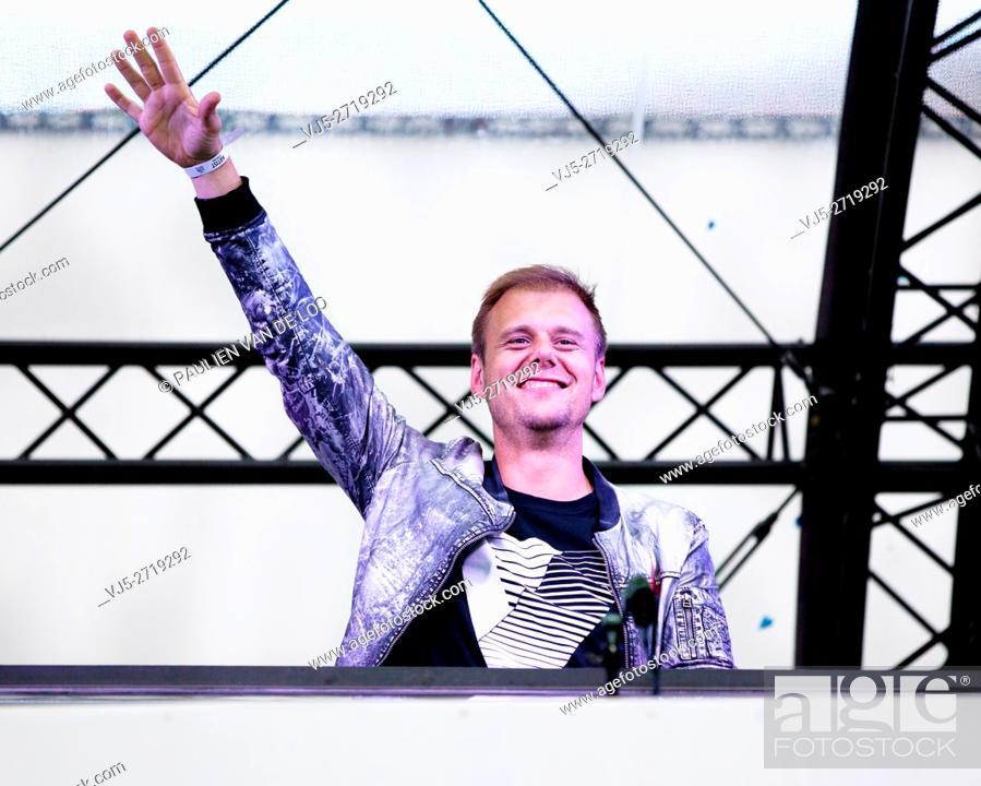 Stock Photo: Armin van Buuren performance 04-06-2016 @ The Flying Dutch in Eindhoven (E3strand Eersel).