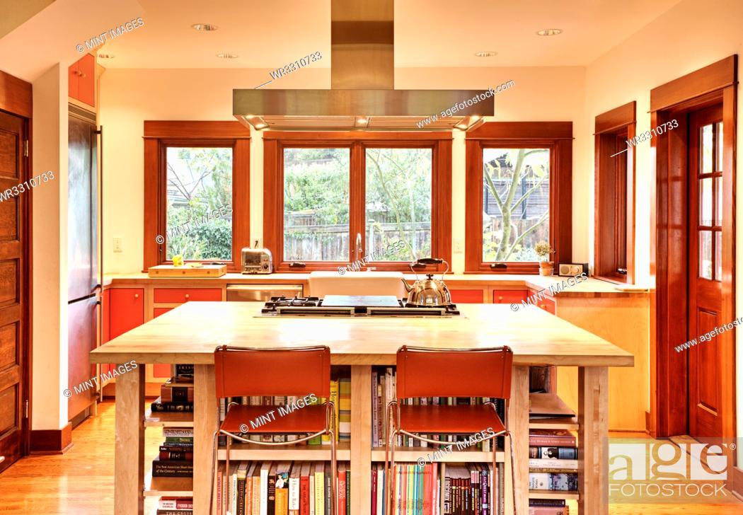 Stock Photo: Kitchen In Suburban Home.