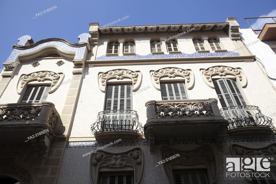 Stock Photo: Pere Carreras Robert House in Sitges , Spain.