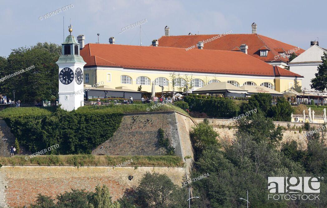 Stock Photo: Novi Sad, Serbia, Novi Sad on the Danube, Province Vojvodina, District South Backa, Petrovaradin Fortress, European Capital of Culture 2021 *** Local Caption.