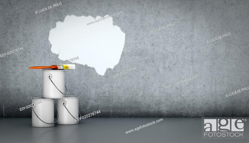 Stock Photo: concept of painting.
