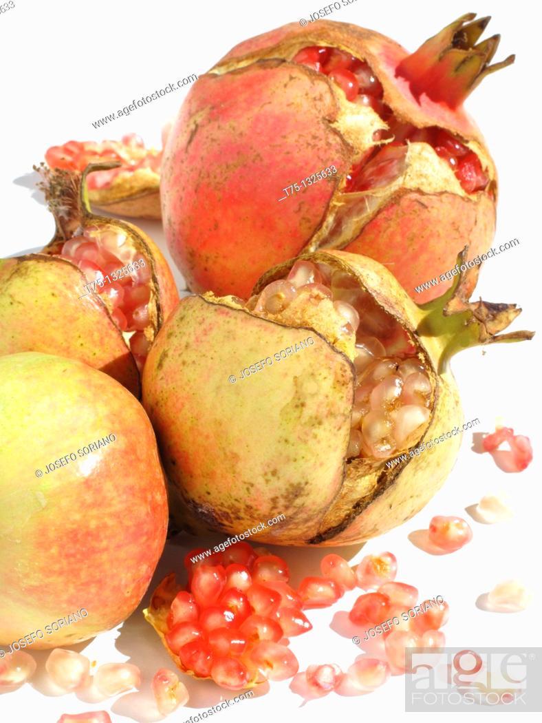 Stock Photo: Ripe pomegranates.