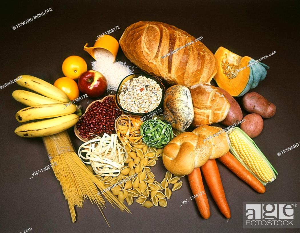 Stock Photo: stock shot of foods which contain carbohydrate.
