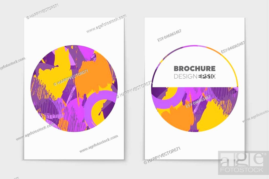 Stock Vector: Abstract vector layout background set. For art template design, list, page, mockup brochure theme style, banner, idea, cover, booklet, print, flyer, book, blank.
