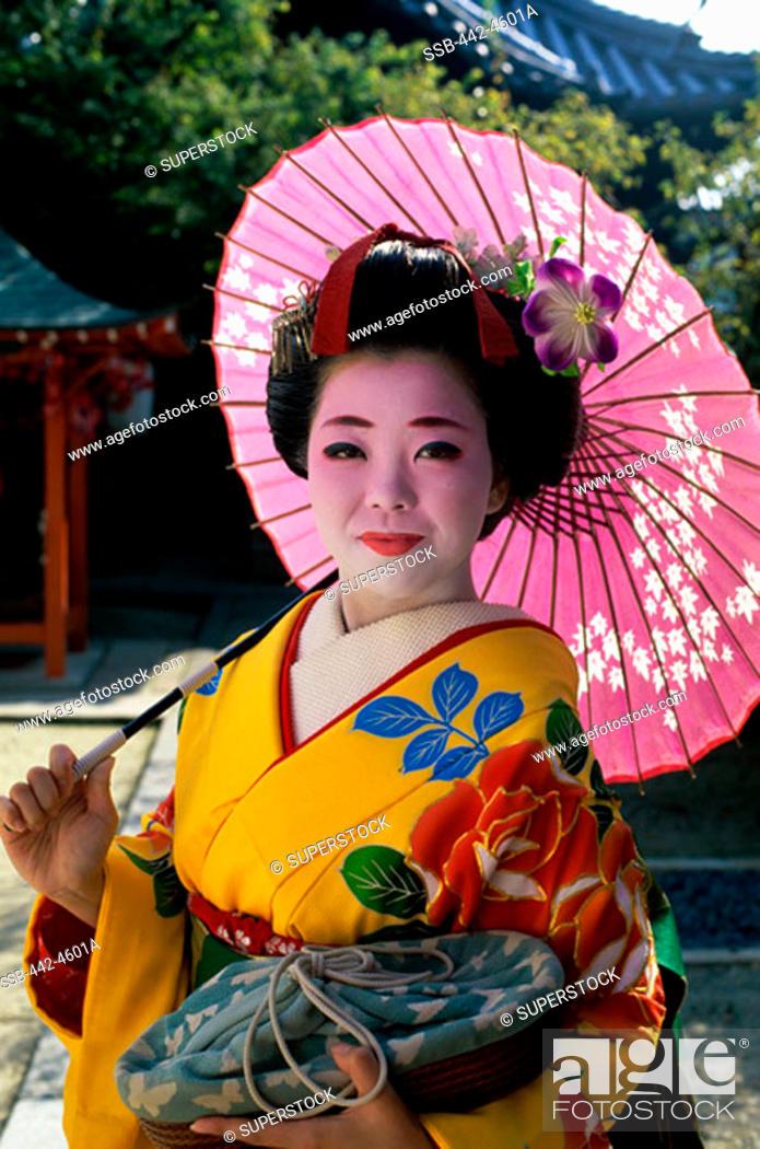 Stock Photo: Maiko Girl Kyoto Japan.