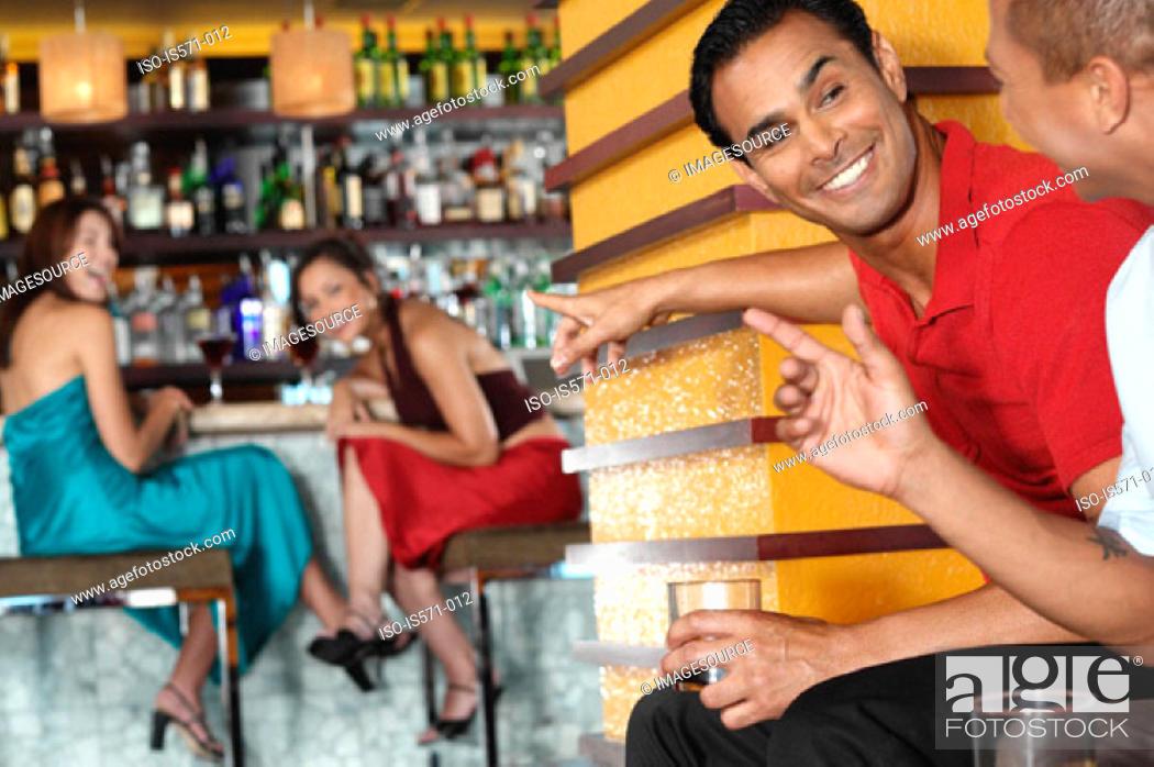 Stock Photo: People sitting in bar.