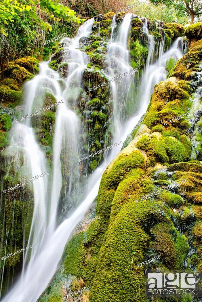 Stock Photo: Waterfall. Molinar River. Tobera. Frías. Burgos province. Castilla y Leon. Spain..