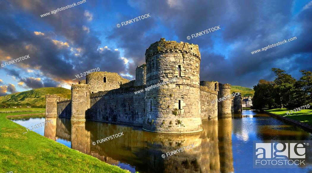 Photo de stock: Beaumaris Castle built in 1284 by Edward 1st, considered to be one of the finest example of 13th century military architecture by UNESCO.