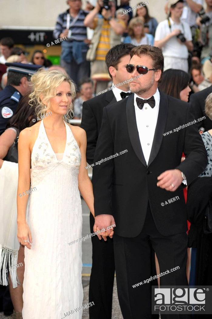 russel crowe, danielle spencer, 63° festival di cannes, Stock Photo